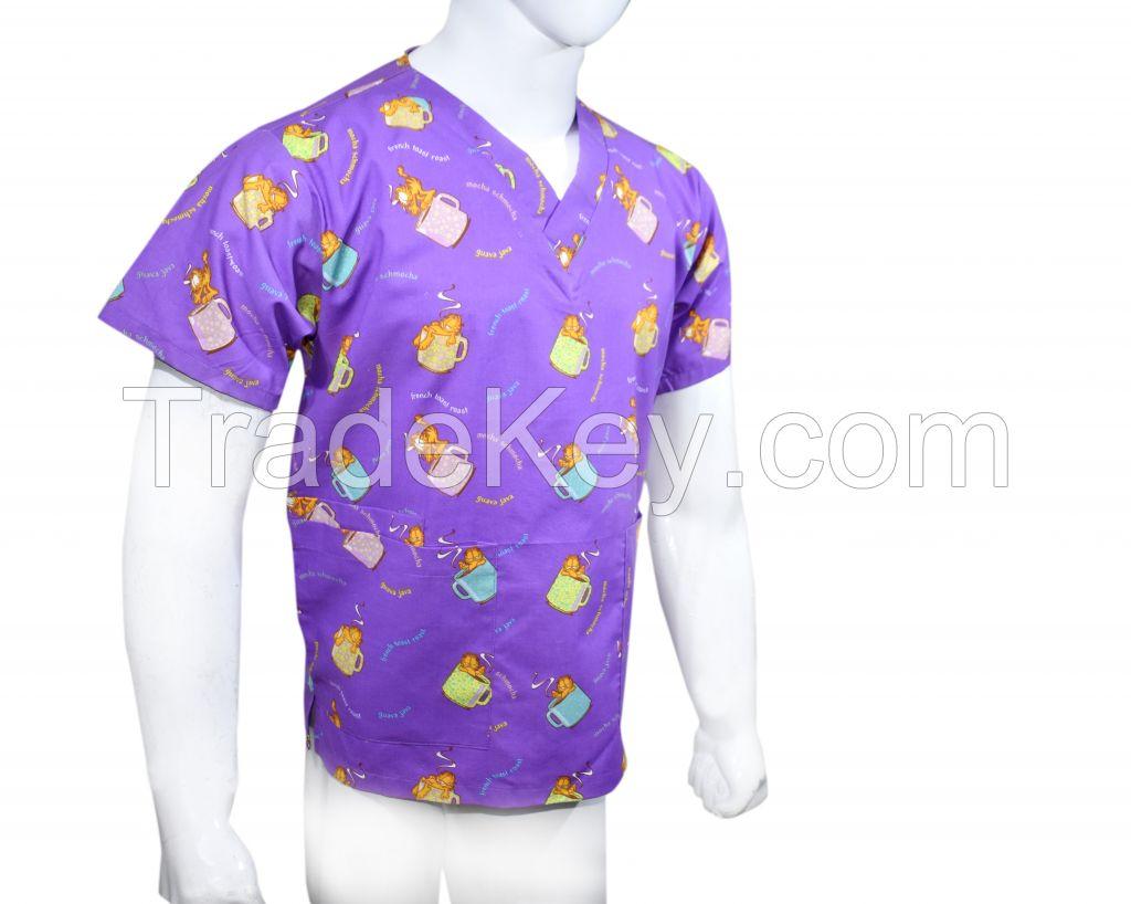 Nickelodeon scrub tops