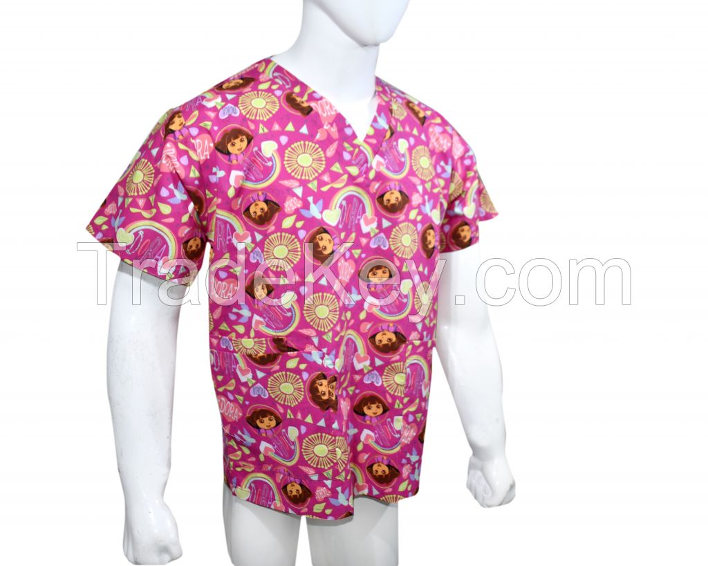 Nickelodeon scrub tops