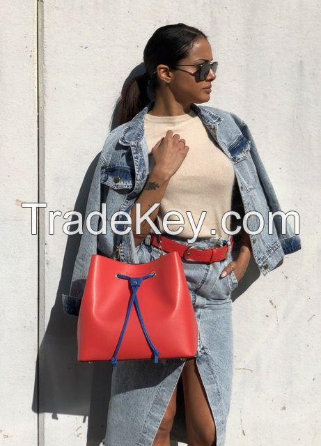 Women bags Dante Agostini Elisa 100% leather saffiano