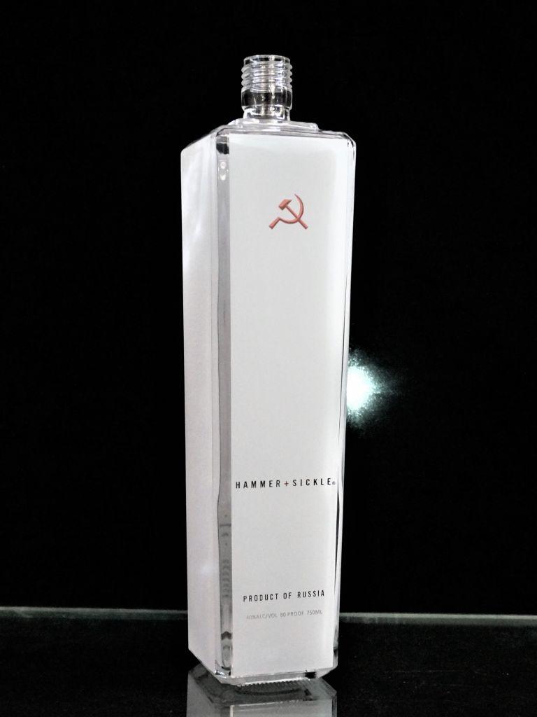 Hammer+Sickle Glass bottle