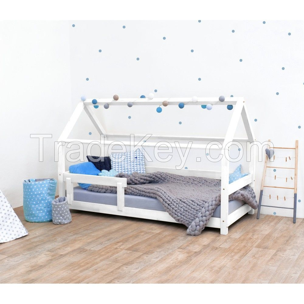No.1318 solid wood Kids house bed for baby furniture