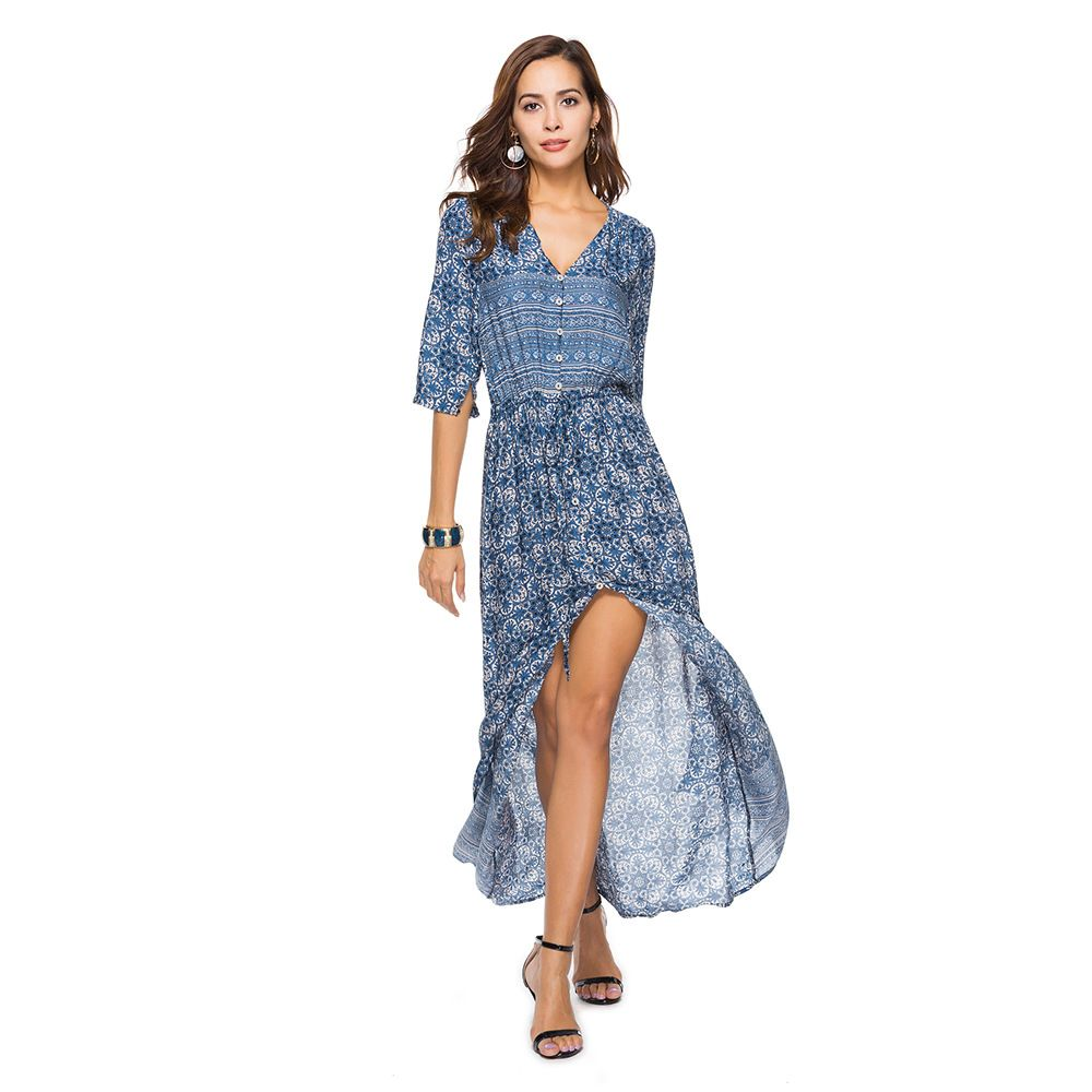 Summer Print Beach Dress for Women