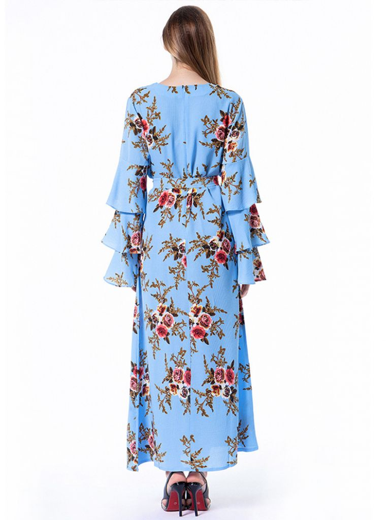 Islamic Print  Dress for Women