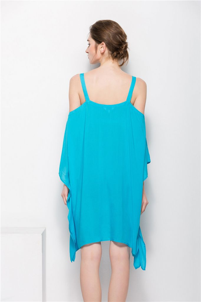 Off Shoulder Rayon Loose  Beach Dress for Women