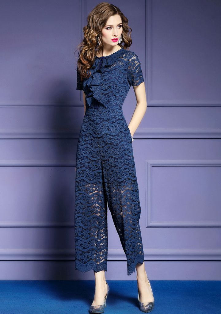 Fashion Lace loose  playsuits for women