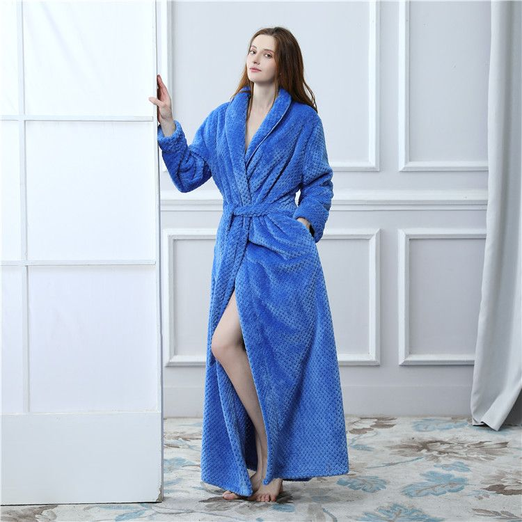 Fashion Loose Long Flannel pillowtop Nightgown for Women