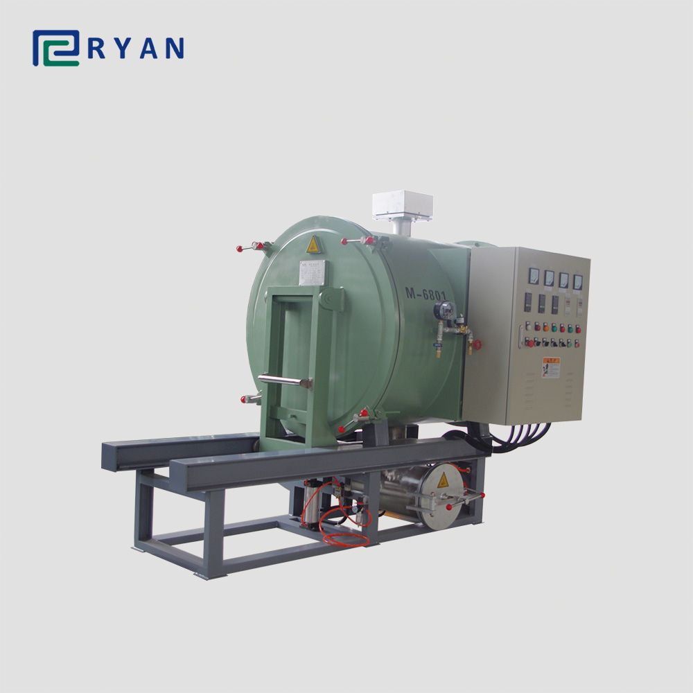 vacuum calcination furnace for clean polymer from spinneret plate