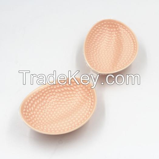 Hot sale comfortable simple nude silicone bra design with granule massage