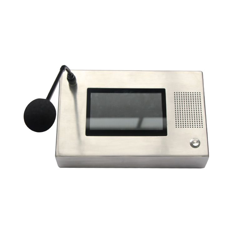 stainless steel weatherproof LCD display Intercom speaker system telephone control room VOIP phone  JWAT662