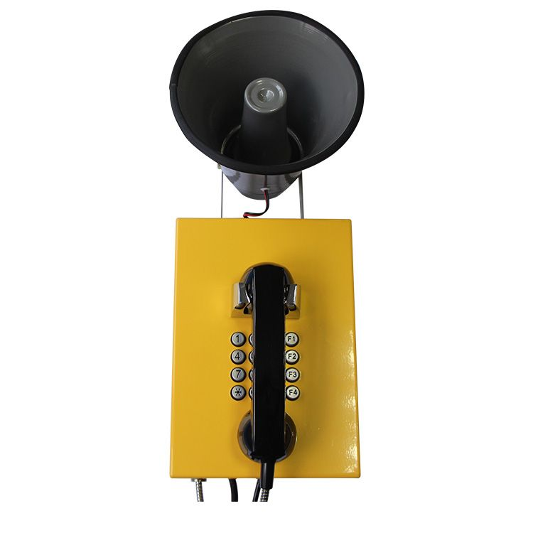 Aluminum Alloy Industrial Telephone for Parking Lots Amplifying Telephone with Loudspeaker