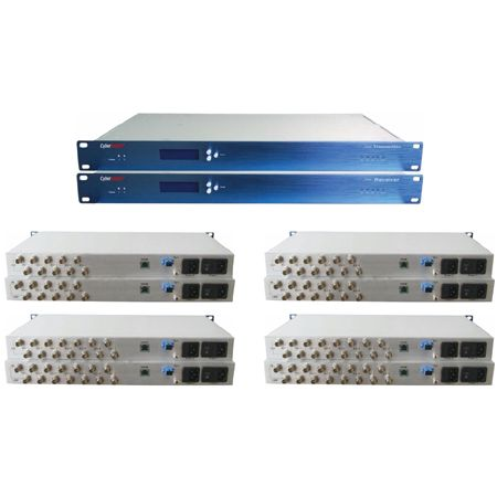 5-8 Channels HD-SDI +1000M IP Optical Transceiver