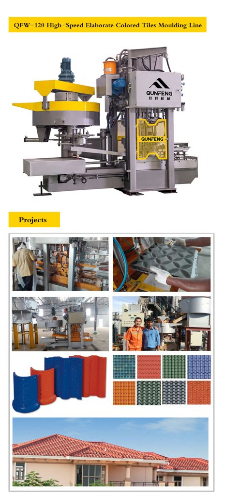 QFW-120 High-Speed Elaborate Colored Tiles Moulding Line