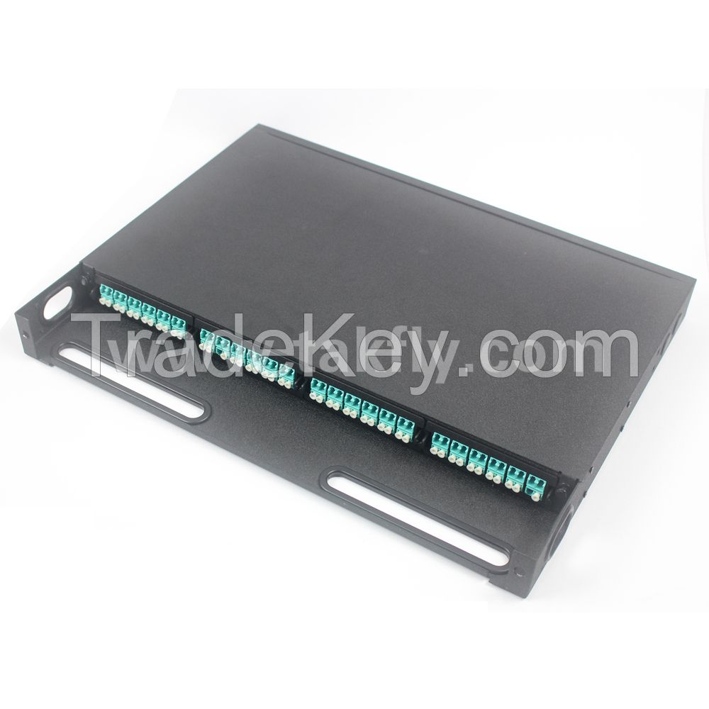 1U 96 Core MPO Rack Mount Patch Panel with MPO Cassette