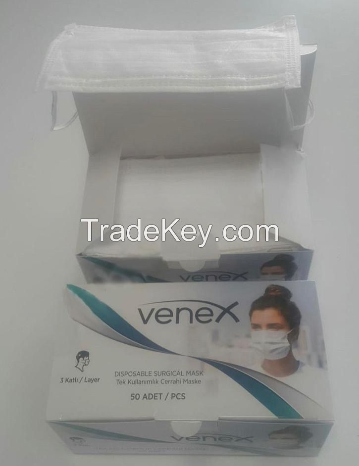 3Ply Surgical Masks EN14683 Type II