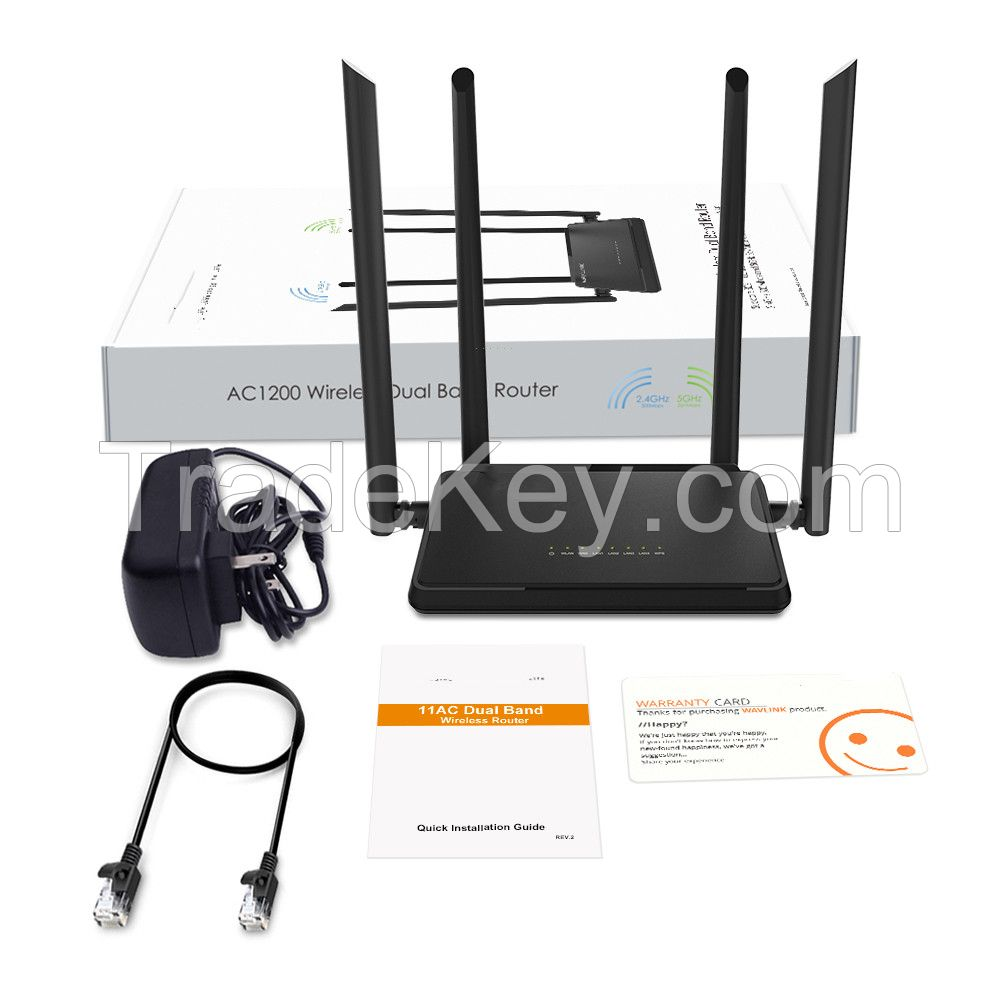 Winstars AC1200 Dual Band Smart WiFi Router Wireless AC 1200Mbps Router 300 Mbps (2.4GHz)+867 Mbps (5GHz) Guest Network