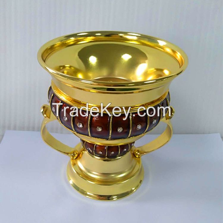 Factory Direct Sales RD-009L Incense burner Oil drop process gold body+brown decoration