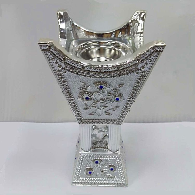 Factory Direct Sales DT-016L Polyresin Incense Burner Silver