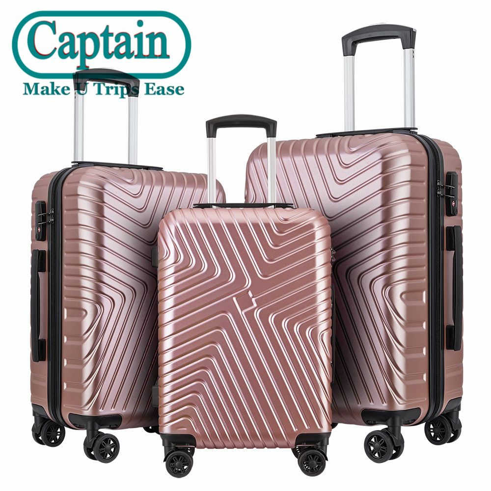 New Launched Hot Design Hard Side Glossy PC+ABS Travel Luggage