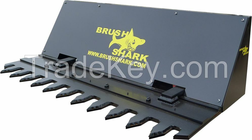 Tree Shear and Brush Cutter - Brushshark Skid Steer Attachment - 6' AUTO CYCLE