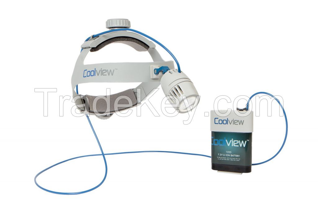 COOLVIEW LED SURGICAL HEADLIGHT 140,000 LUX MODEL 1400-XT