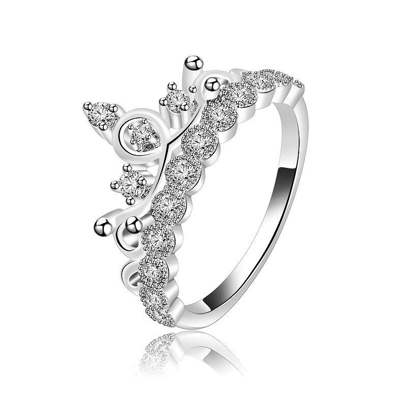 Princess' Crown Diamond Rings for Wedding Party