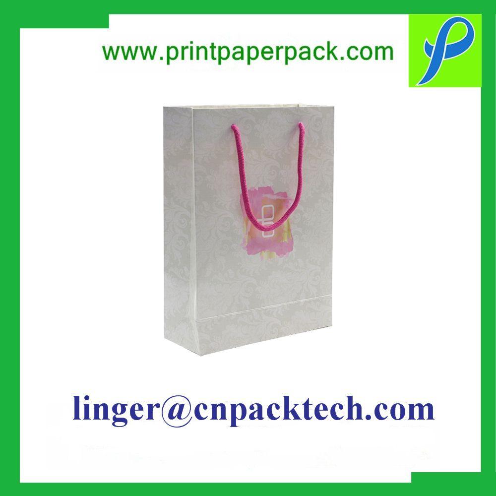 Bespoke Hot Stamping Punching Handle Gift Paper Bag, Fashion Craft Logo Printed Shopping /