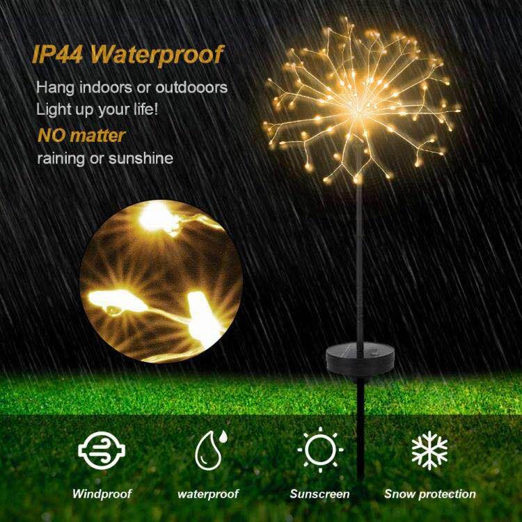 120 LED Outdoor Solar Garden Decorative Lights with Remote, Copper Wire LED Starry Fairy String Lights for Landscape Pathway Patio Wedding Party Corridor