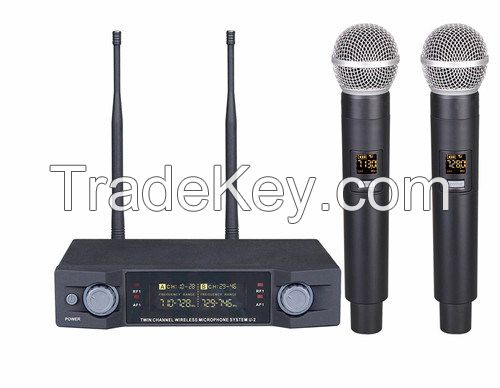 UHF Wireless Microphone, One by Two