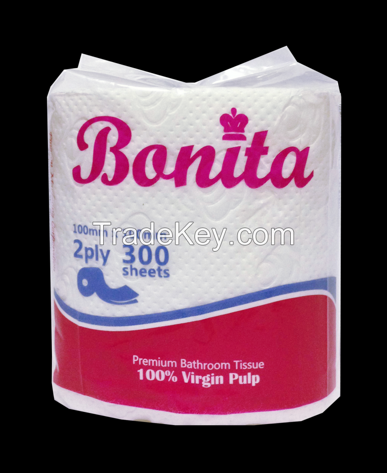 Bonita Bathroom Tissue Roll 2-ply