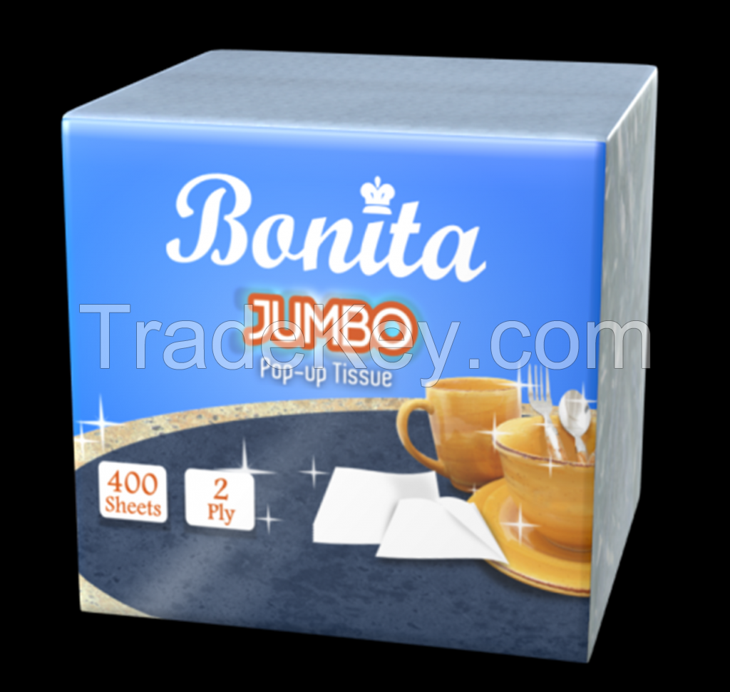 Bonita Dispenser Napkin (Jumbo Pop-up Tissue)