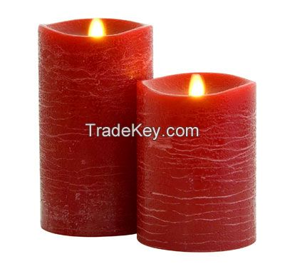 Led Frost Matte Water Ripple 3.5x5 Inch Flameless Moving Wick Pillar Candles