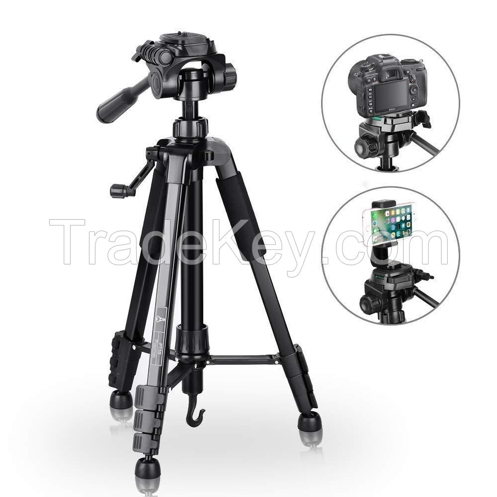 Tripod camera Compact of 151 cm Flexible with support for mobile with Bag
