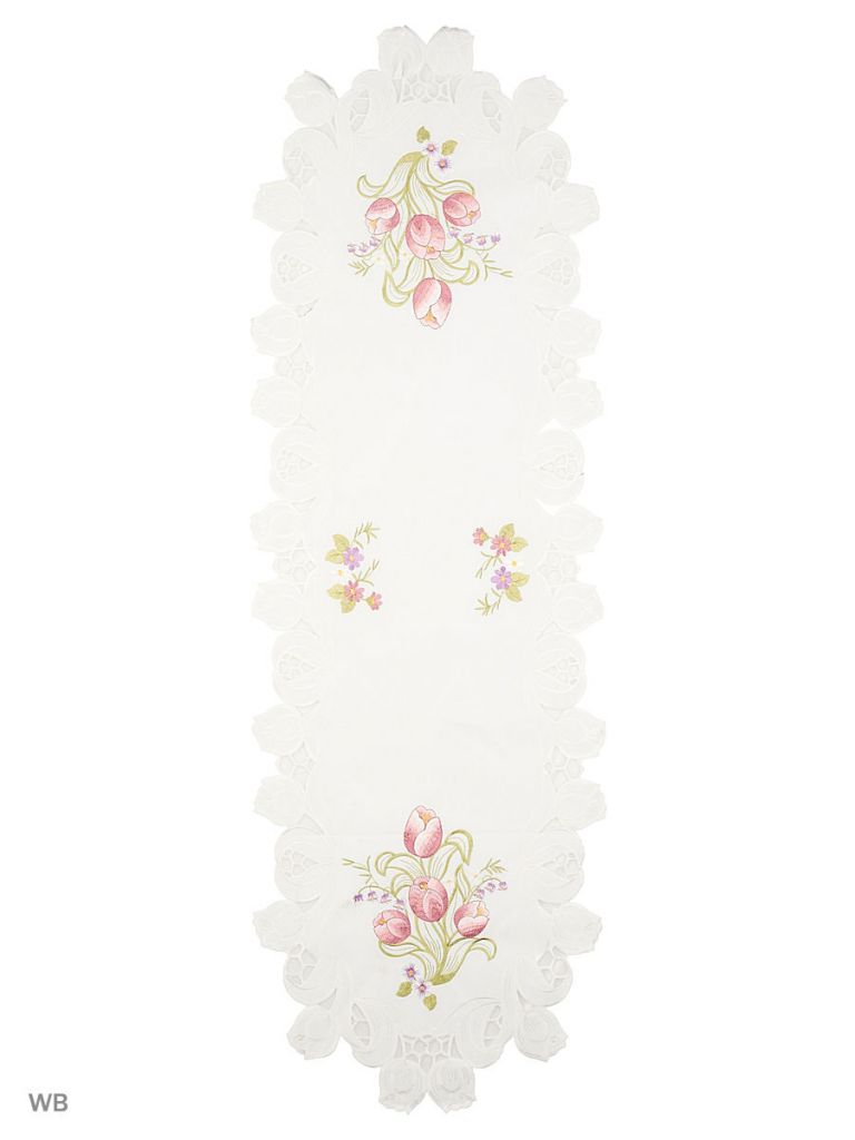 Embroidery flower table runners