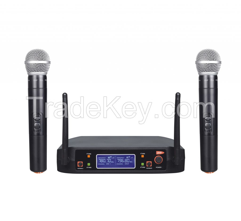 Hot sale professional wireless microphone mini portable handheld stage microphone, shur microphone.
