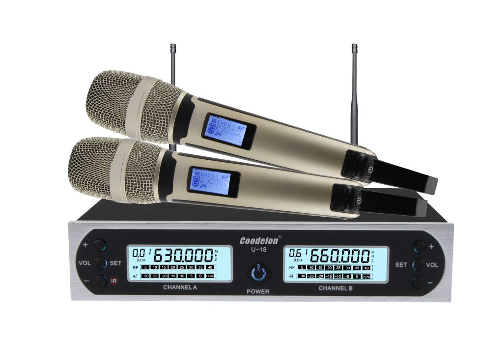 Professional factory UHF singing Conference system wireless handheld style microphone