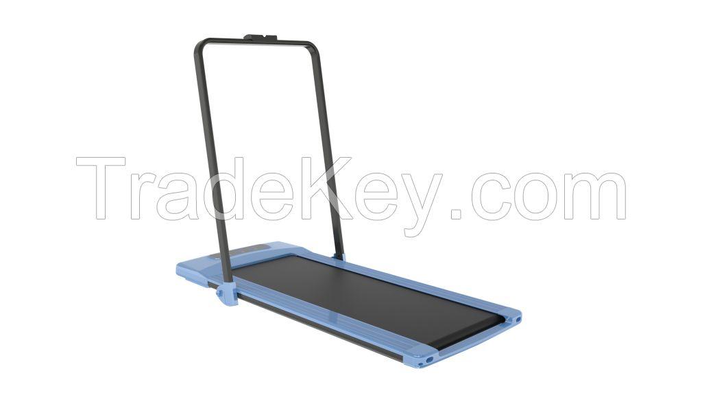 Foldable flat treadmill of brushless motor