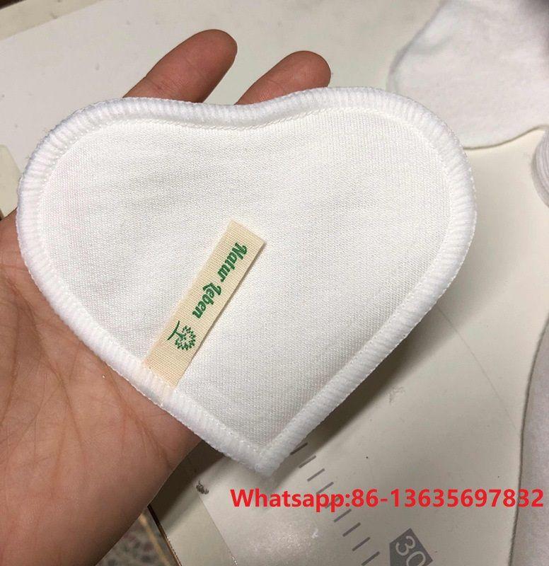 Natural Bamboo Reusable Nursing Pads,Washable Contoured Reusable Breast/Breastfeeding Pads