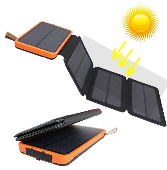 Waterproof Leather Folding Solar Mobile Power Supply  POCS00004