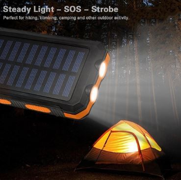 Solar Mobile Power Supply (with compass + Flashlight)    POCS00003