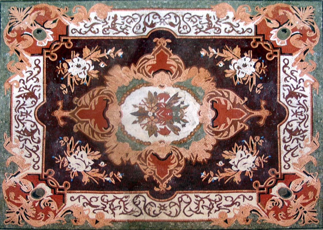 marble mosaic carpet floor decor tile