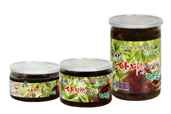 Plastic Container Sanmaneul Myeong-yi Stem (Mountain Garlic Leaf Stem) 300g, 500g, 1kg - Dokdo Trade