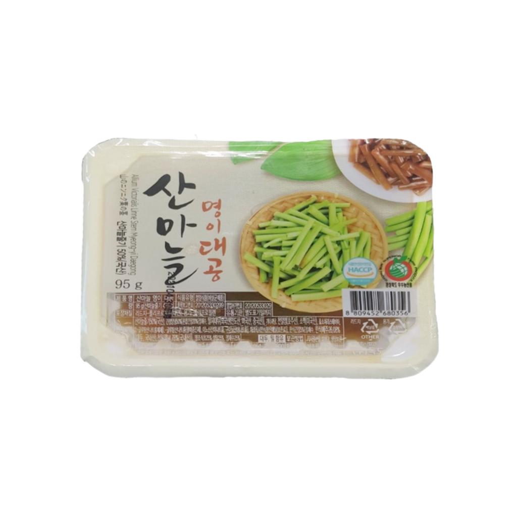 Tray Sanmaneul Myeong-yi Stem (Mountain Garlic Leaf Stem) 95g - Dokdo Trade