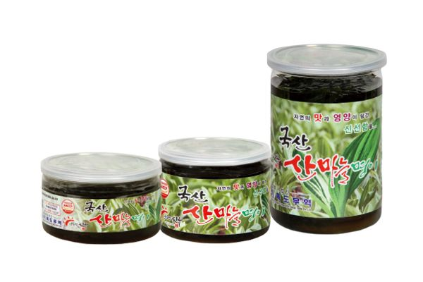 Plastic Container Sanmaneul Myeong-yi (Mountain Garlic Leaf, alpine leek, victory onion) 300g, 500g, 1kg - Dokdo Trade