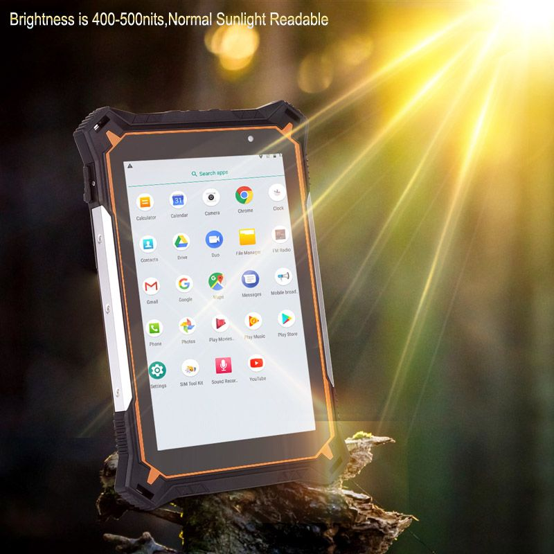Cheapest Factory Android 8.1Octa-core Rugged Tablet GPS IP68 Waterproof Tablet PC with 10000mAh Battery Dust Proof Tablet PC