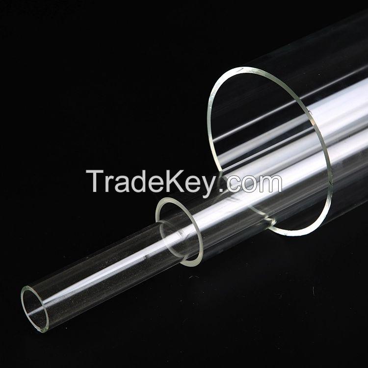 Large Clear quartz glass Tube Open End
