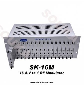 Adjacent Channel 16 In 1 Analog Headend For Hotel Cable TV System