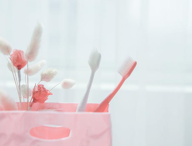 Life Blossom (Lemon, Sky, Pink, White) - Sang Si Co., Ltd - Adult ToothBrush