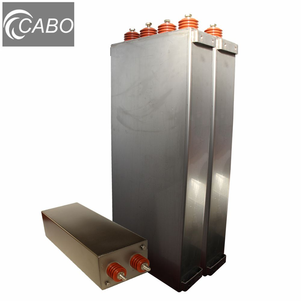 CABO MKMJ/MAM 30kV Pulse capacitor for lightning test and energy storage (10-50KuF, 3K-100KVdc, Ip=180kA max)