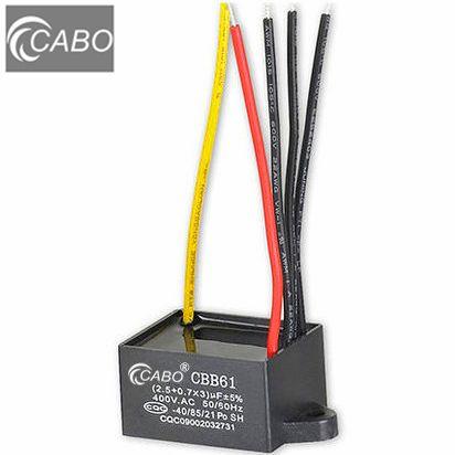 AC motor run capacitors  CBB61 series//CE, CQC, VDE, CB, TUV S3