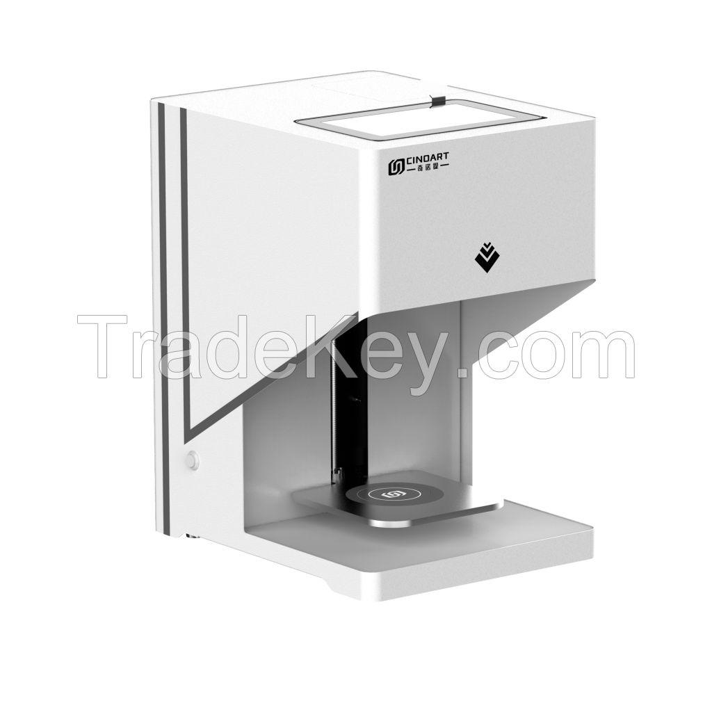 latte art coffee printer 3D coffee printer for coffee cookies